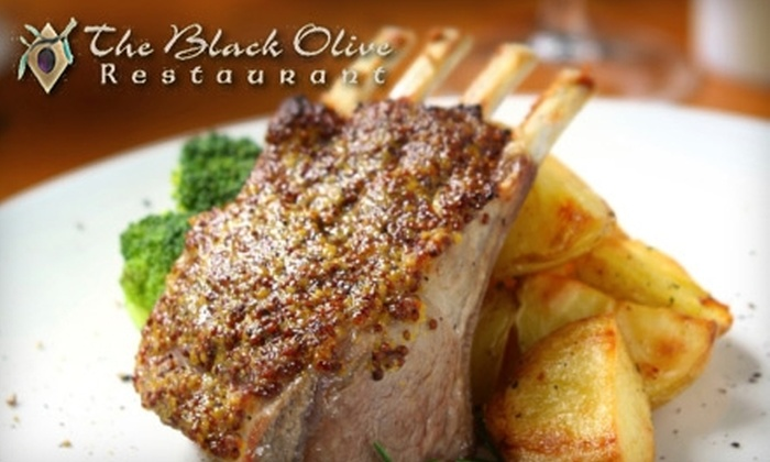 The Black Olive - Downtown: $25 for $50 Worth of Mediterranean Fare and Drinks at The Black Olive