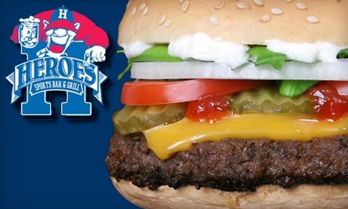 Heroes Sports Bar - Old Town: $7 for $15 Worth of Classic Pub Fare at Heroes Sports Bar