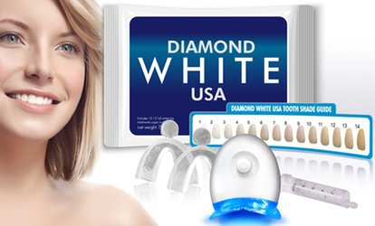 $13.99 for a 3D <strong>Teeth-Whitening</strong> Kit with Lifetime Gel Refills from DiamondWhiteUSA ($129 Value)