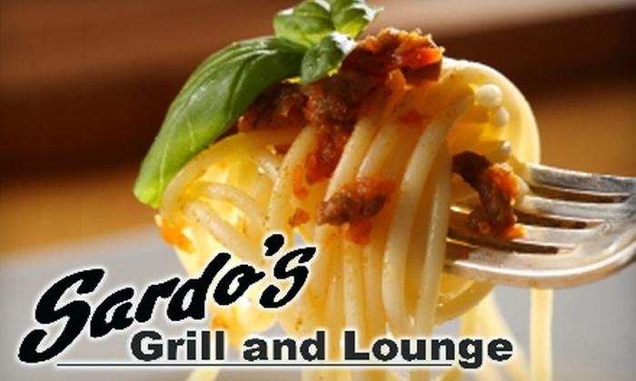 Sardo's - Burbank: $20 for $45 Worth of Dinner Fare and Drinks at Sardo's in Burbank (or $10 for $22 Worth of Lunch Fare)