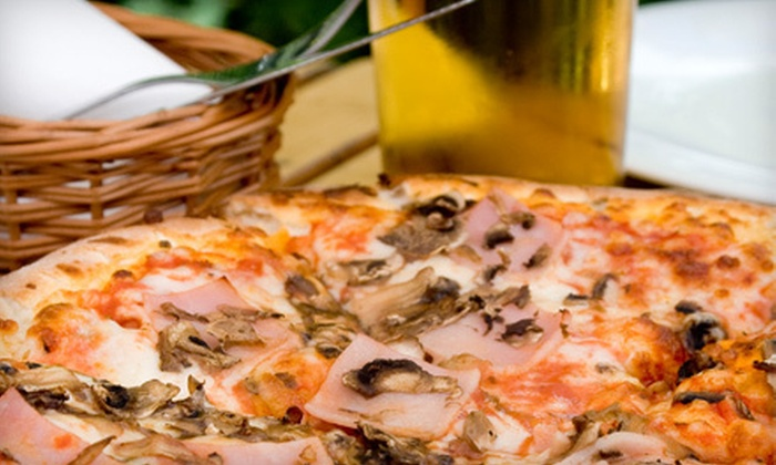 First & Last Cafe - New Canaan: Pizza and Draft Beers for Two or Four at First & Last Cafe in Danbury (Up to 56% Off)