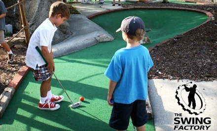 The Swing Factory: 1 Game of Mini Golf for 2 - The Swing Factory in Woodstock