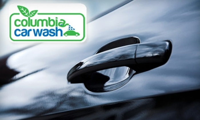 Columbia Car Wash and Detailing - Downtown Columbia: $18 For Two Super Washes From Columbia Car Wash with Additional Wheel and Tire service (a $42 value)