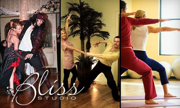 The Bliss Studio - Oyster Bay: $20 for Ballroom-Dancing Classes ($130 Value) or $30 for Yoga or Zumba Classes ($65 Value) at The Bliss Studio in Oyster Bay