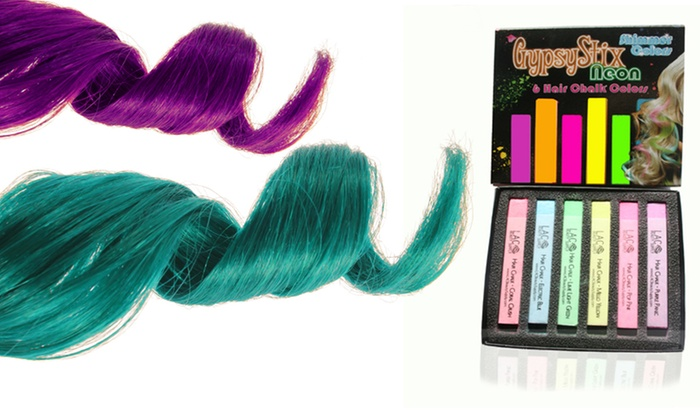 Lashes and Cosmetics Neon Shimmer Hair Chalks: Lashes and Cosmetics Neon Shimmer Hair Chalks.
