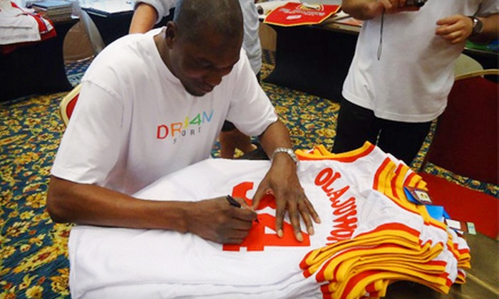 Powers Collectibles: $229 for One Authentic Hakeem Olajuwon Autographed Jersey with Shipping Included ($459 Value)