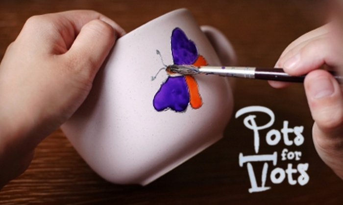 Pots for Tots - Omaha: $55 for an In-Home Pottery-Painting Party for Five Children from Pots for Tots ($125 Value)