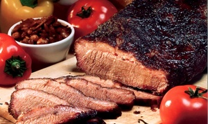 Serious Texas Bar-B-Q Loveland: Texas-Style Barbecue at Serious Texas Bar-B-Q (38% Off). Two Options Available.