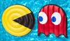 Pac-Man with Ghost 2-Piece Pool Float Set: Pac-Man with Ghost 2-Piece Pool Float Set