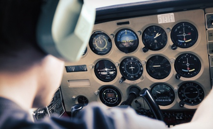 $49 for a 90-Minute Flying Lesson with Ground School and Flight Time at Downtown Aviation ($100 Value)