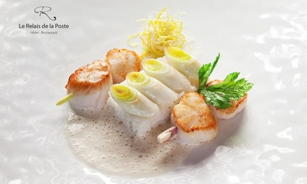 Menu Inspiration de saison concocté par le chef Bruno Sohn pour 2 convives à 69,99 € au restaurant Le Relais de la Poste