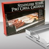 Stainless Steel Rectangular Pro Grill Griddle