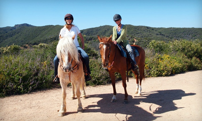 Westside Riding School - Will Rogers State Historic Park: $65 for a 60-Minute Guided Horseback Trail Ride for Two at Westside Riding School ($130 Value)