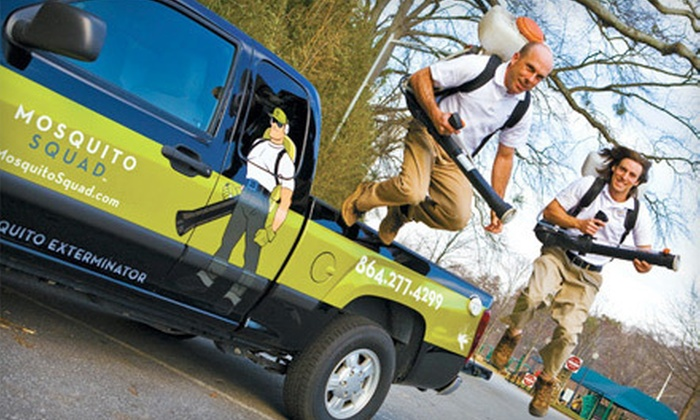 Mosquito Squad - Cincinnati: Mosquito-Barrier-Spray Service from Mosquito Squad (Up to 66% Off). Three Options Available.