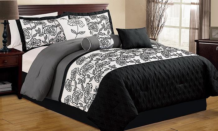 Luxury Comforter Set 7 Piece Groupon Goods