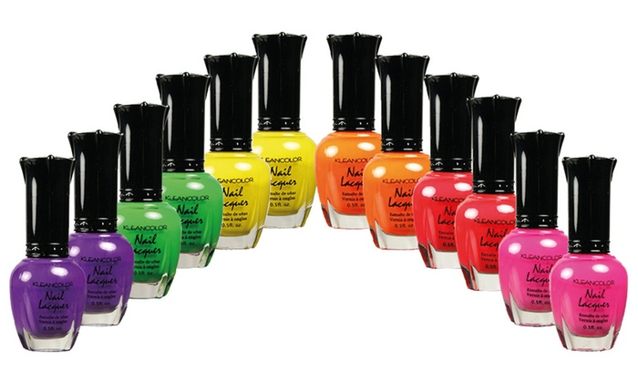 Up To 83% Off on KleanColor Neon Nail Polish Set | Groupon Goods