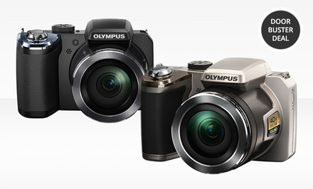 Olympus 14-Megapixel 40x Optical-Zoom Digital Camera in Black or Silver (SP-820). Free Returns.