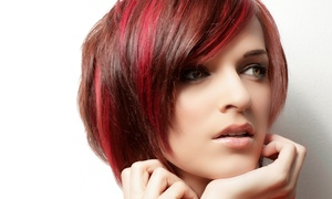Glam Rock Hair Studio: Haircut with Conditioning or Partial or Full Highlights, or Monthly Blow-Outs at Glam Rock Hair Studio (Up to 54% Off)