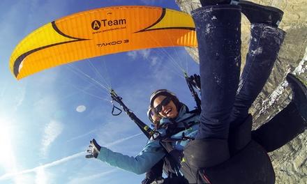 Vol en parapente biplace pour 1 personne, option photos et vidéo dès 69,90 € chez Aeroteam