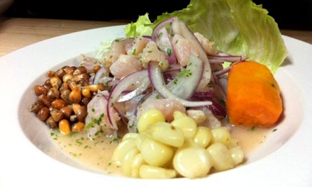 Peruvian Food and Drinks at Lola's Peruvian Restaurant (50% Off). Two Options Available.