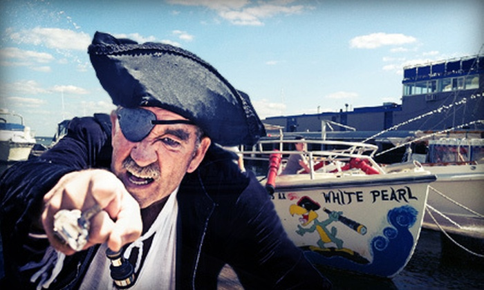 Boston Harbor Shuttle - Boston: Pirate-Treasure Hunt for Two or Four, or Pirate Birthday Party for Up to 11 from Boston Harbor Shuttle (Up to 54% Off)