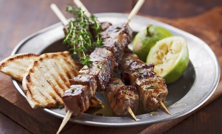 Dinner for Two with Apps, Entrees, and Wine at Athenian Greek Taverna (Up to $69 Value). Two Options Available.