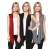 Women's Sleeveless Cardigans (3-Pack)