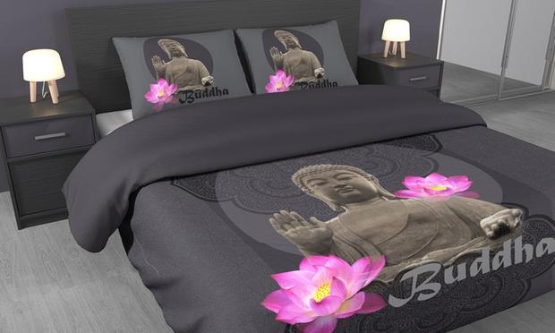 parure satin groupon shopping. Black Bedroom Furniture Sets. Home Design Ideas