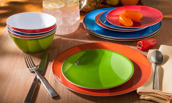 Gourmet Home Products 12-Piece Melamine Dish Set: $19.99 for a 12-Piece Melamine Dish Set ($39.99 List Price). 4 Colors Available. Free Shipping and Returns.
