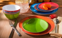 GROUPON: $19.99 for Gourmet Home Products Dish Sets Gourmet Home Products 12-Piece Melamine Dish Set