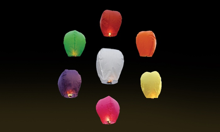 20-Pack of Chinese Sky Fly Fire Lanterns: 20-Pack of Chinese Sky Fly Fire Lanterns. Free Returns.