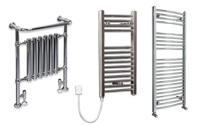 Chrome Bathroom Towel Radiators: Chrome Heated Towel Radiator