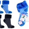 2 Pairs of Lavender-Infused Chenille Socks with Furry Cuffs
