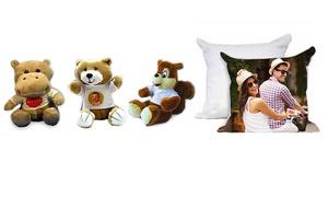 CLICK & PRINT:  Peluche e cuscino personalizzati con foto da Click & Print (sconto fino a 63%)