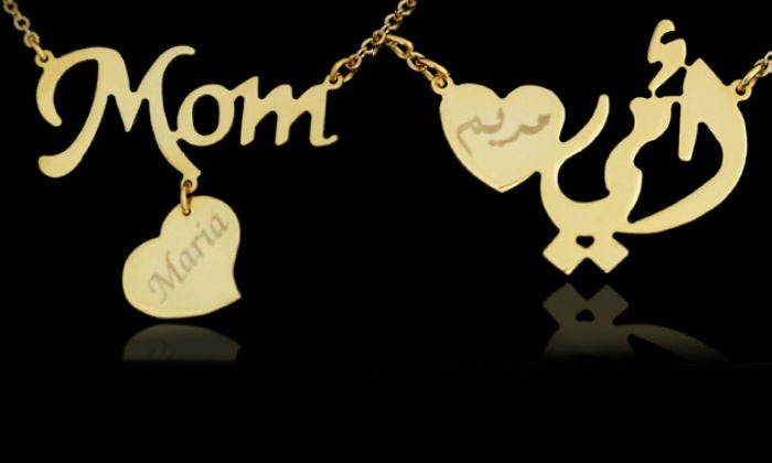 crystal mom necklace love gifts sweater mothers mother famshin fashion day item chain korean s and pendant child