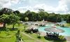 Parada dos Guarás Parque Aquático - Santa Izabel: Parque aquático Guará – Santa Izabel: 2 ou 4 passaportes (com opção de porção e bebida) a partir de R$ 39,90