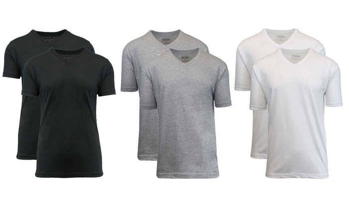 Galaxy by Harvic Men's Tagless V-Neck Undershirts (6-Pack): Galaxy by Harvic Men's Tagless V-Neck Undershirts (6-Pack)