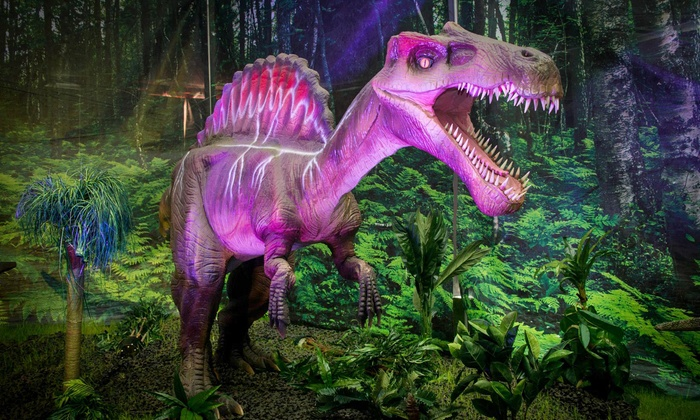 "Discover the Dinosaurs - Lansing Center: ""Discover the Dinosaurs"" Interactive Exhibit for One Adult or Child on October 10 or 11 at 10 a.m."
