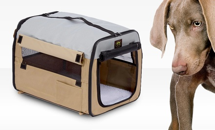 Pet Life Khaki Collapsible Carriers. Multiple Sizes Available. Free Returns.