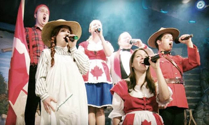 """Cornerstone Theatre - Canmore: $37 to See """"Oh Canada Eh?"""" Dinner Show at Cornerstone Theatre in Canmore on April 20, 26, or 27 (Up to 51% Off)"""