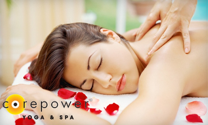 CorePower Yoga & Spa - CorePower Yoga - Maple Grove: 75-Minute Rejuvenation Massage, 75-Minute Facial, or Both at CorePower Yoga & Spa (Up to 51% Off)