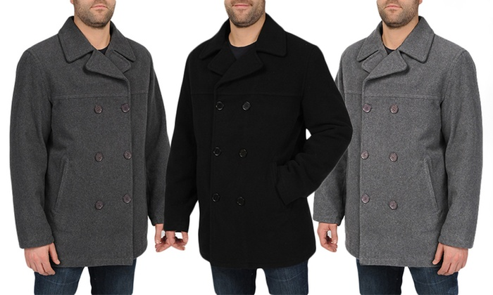 Excelled Men's Peacoats