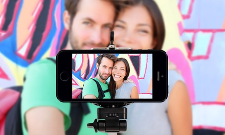 Bluetooth Smartphone-Camera Remote, Tripod, and Selfie Monopod