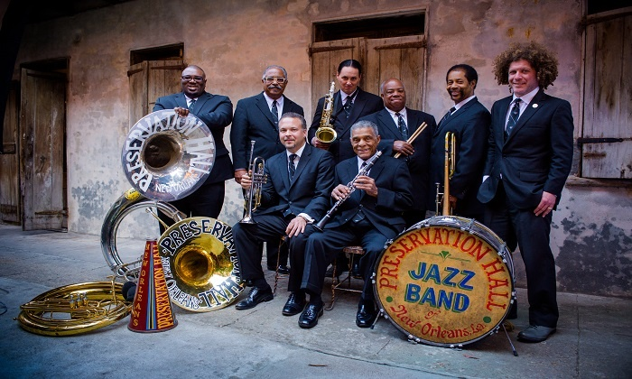 Preservation Hall Jazz Band and Allen Toussaint - Downtown: Preservation Hall Jazz Band and Allen Toussaint at Music Hall Center on Friday, October 10 (Up to 55% Off)