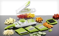 GROUPON: Multi-Blade Chopper and Adjustable Slicer Set Multi-Blade Chopper and Adjustable Slicer Set