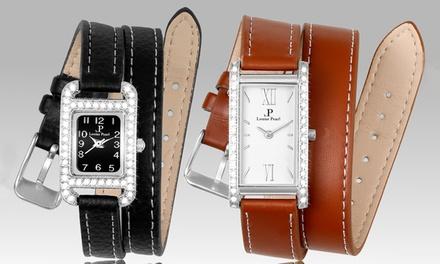 Montres ornées de cristaux Swarovski®, de la marque Louise Pearl collection Equivoque et Audace