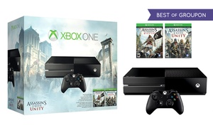Xbox One Bundle with Assassin's Creed Unity and Black Flag