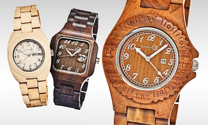 Earth Wooden Watches: $54.99 for an Earth Wooden Watch (Up to $175 List Price). Multiple Styles Available.