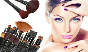 Professional Makeup Brush Set With Vegan-leather Case (32-piece)