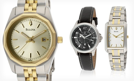 Bulova Mens and Womens Watches (Up to 73% Off). 8 Styles Available. Free Shipping and Returns.